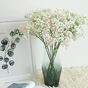 Yinrunx 135 Heads Baby Breath Flowers Artificial Gypsophila Flowers Fake Bouquet Floral for Home Party Wedding Decorations 67