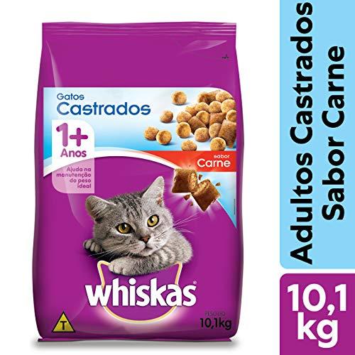 Ração Whiskas Carne Para Gatos Adultos Castrados 10,1 kg