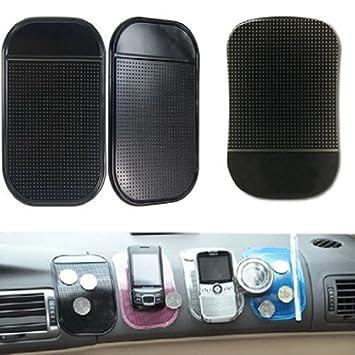 Amazon.es: Almohadilla Adhesiva para salpicadero de coche antideslizantes Funda para GPS Soporte para Gadget de botón