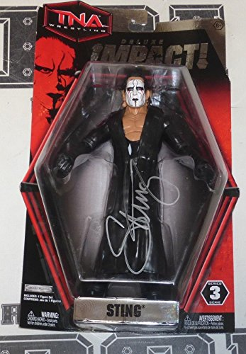 Sting Signed Official TNA Impact Action Figure COA WWE Wrestling Auto'd - PSA/DNA Certified - Autographed Wrestling Miscellaneous Items