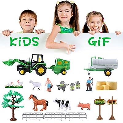 MINGPINHUIUS Farm Toys Set with Farm Animals for Kids (Style 2): Toys & Games