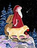 Caroline's Treasures SS8973CHF Santa Claus with Golden Retriever Flag Canvas, Large, Multicolor Review