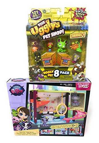 Girl Toys Bundle Toys Littlest Pet Shop - Style your Way Playset - Pawza Pool - incl. #3835( Harriet Grand) and The Ugglys Pet Shop Toy Figure (Kangaroo Costume Party City)