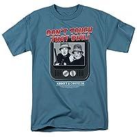 Trevco Men's Abbott & Costello Short Sleeve T-Shirt, Slate, Medium