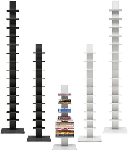 Cheap Sapiens Original Bookcase Sintesi H.38,2 inches 6 Shelves Black/Anthracite modern bookcase for sale