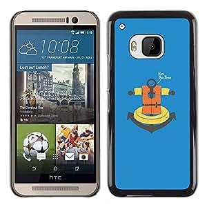 LECELL--Funda protectora / Cubierta / Piel For HTC One M9 -- No esta vez ancla --