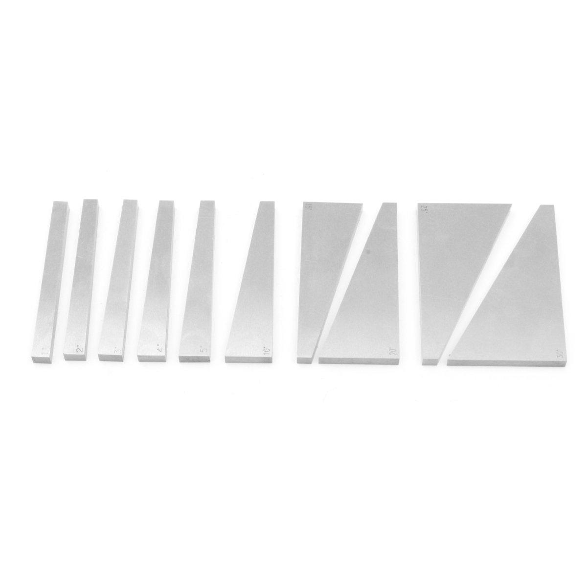 10Pcs Precision Angle Blocks Set Lathes Milling Machinist Ground 1°/ 2°/ 3°/ 4°/ 5°/ 10°/ 15°/ 20°/ 25°/ 30°