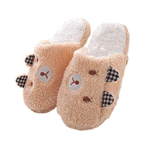 Animal Ladies Fuzzy Pig House Cute Coffee Winter Bedroom Womens Slippers Slippers Indoor qwItUxE6