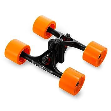 Paquete de 2 ejes de monopatín con ruedas, para monopatines tipo cruising o longboard, naranja: Amazon.es: Deportes y aire libre