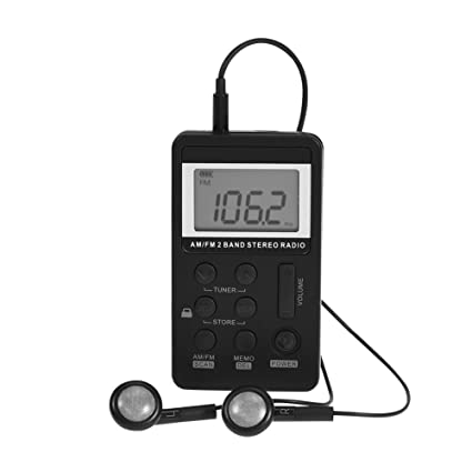 Amazon.com: Portable FM Radio, Mini AM/FM 2 Band Stereo Pocket Radio Receiver with LCD Display and Earphone: Car Electronics