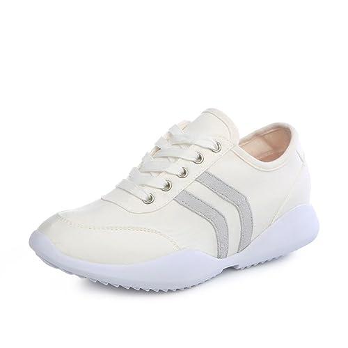 Mayor ventilación dentro de las zapatillas de deporte de fondo plano de verano/Colegiala corbata zapatos-A Longitud del pie=23.3CM(9.2Inch) rCwWDI