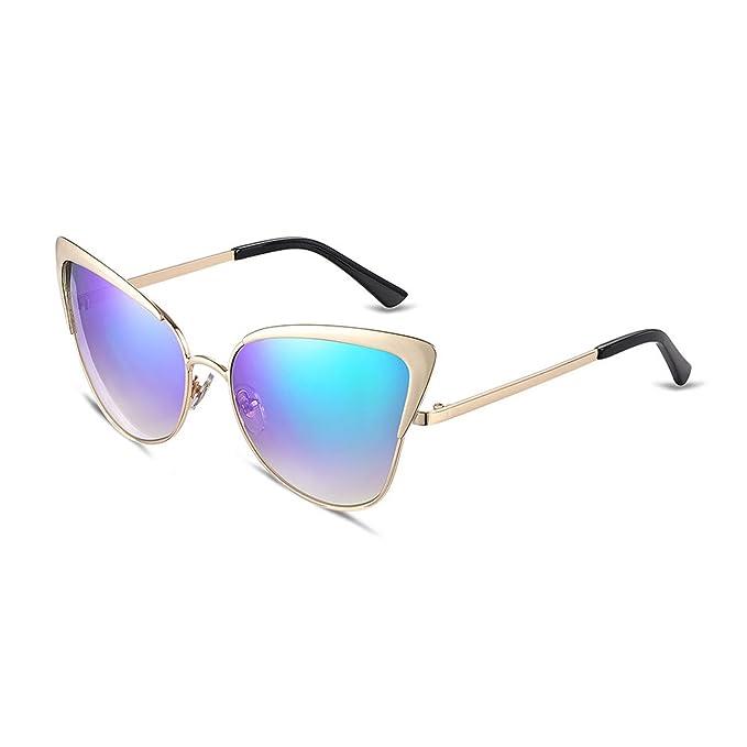 THEE Damen Sonnenbrille Katze Augen UV400 Schutz amJIyIWa