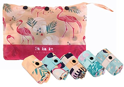 Envirosax PS.P Palm Springs Reusable Grocery Bag, Set of 5 Shopping, Multicolor ()