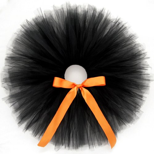 Celebrity Costumes For Toddlers (Halloween Black Cat - Tutu Skirt w Ribbon Bow for Baby/Girl/Toddler)