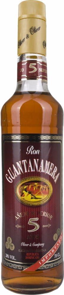 Guantanamera 5 Years Old Anejo Superior Rum - 700 ml: Amazon ...