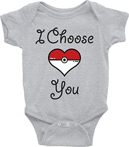 Price comparison product image Pokemon Baby Onesie I Choose You Heart Baby Shower Birthday Gift Cute Baby Clothes