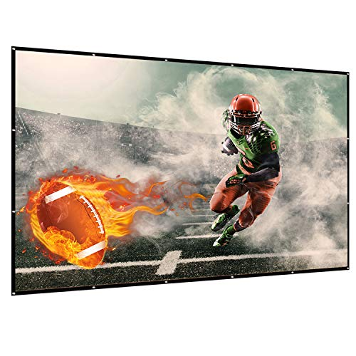 120 inch Projector Screen, 16:9 HD Indoor and Outdoor 4k Portable Foldable and Washable Anti-Crease Projection Movie Screen for Home Theater and Public Presentation, Support Double Sided Projection by HAISHI