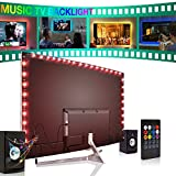 Forest leuchten Led Strip Lights 2M for 40-60in TV, USB Music LED TV Backlight Kit with Remote