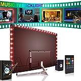 Forest leuchten Music Led Strip Lights 6.56ft for 40-60in TV, USB Music LED TV Backlight Kit with Remote - 5050 Leds Color Change Bias Lighting for HDTV