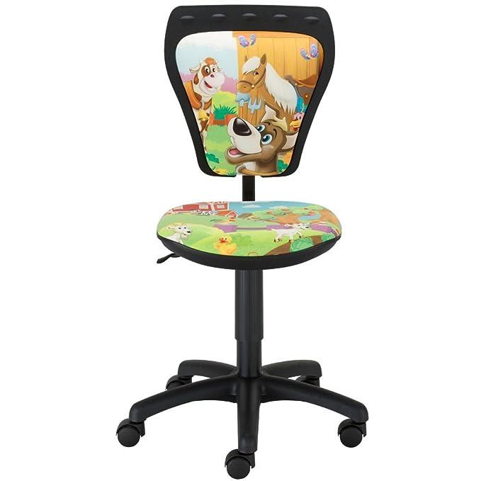 Design Bürostuhl Pirat Sitzbreite 40,5 cm Dreh Sessel Stuhl Kinderzimmer Kinder