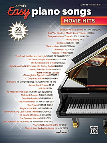 Music Sheet Jazz Vocal (Alfred's Easy Piano Songs -- Movie Hits: 50 Songs and Themes)