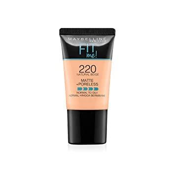 Image result for MAYBELLINE FIT ME LIQUID FOUNDATION MATTE & PORELESS TUBE 18ML