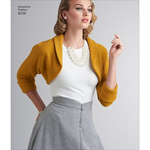 Simplicity Creative Patterns US8250H5 8250 Simplicity Pattern 8250 Misses' Vintage 1950's Skirt & Bolero, Size: H5 (6-8-10-12-14),,