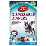 Simple Solution Disposable Medium Dog Diaper, 12 count