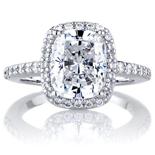 Engagement Rings Kuwait: Amerie's 2.5 Carat Cushion Cut Halo Engagement Ring