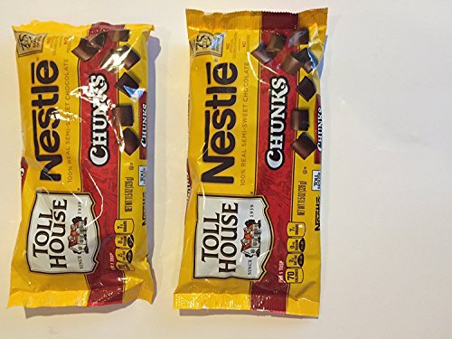 Nestle Toll House Semi-Sweet Chocolate Chunk Baking, 11.5 oz (Pack of Two) by Nestle