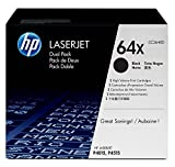 HP 64X (CC364X) Black Toner Cartridge High Yield, 2 Toner Cartridges (CC364XD)