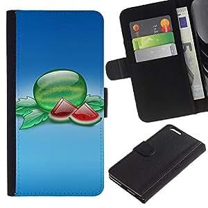 JackGot ( Frutta Macro Fette ) Apple (5.5 inches!!!) iPhone 6+ Plus / 6S+ Plus la tarjeta de Crédito Slots PU Funda de cuero Monedero caso cubierta de piel
