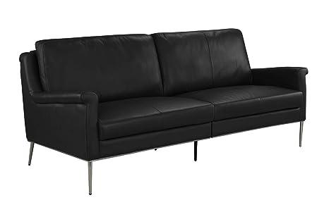 Amazon.com: MidCentury Sofá de piel, sofá para sala de estar ...