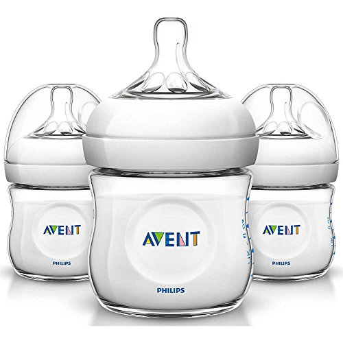 Avent Electronic - Philips SCF01037 Avent 4oz Natural Baby Bottle - 3 Pack SCF010/37