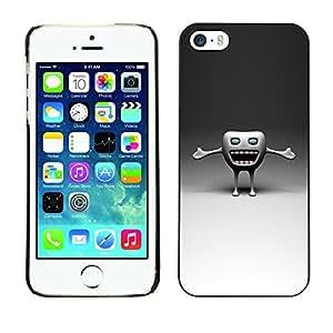 TopCaseStore / la caja del caucho duro de la cubierta de protección de la piel - Funny Tooth - Apple iPhone 5 / 5S