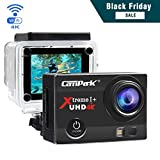 Action Camera Campark ACT74 Action Cam 16MP 4K WiFi Waterproof Sports Camera 170° Ultra Wide-Angle Len with 2 Pcs Rechargeable Batteries and Portable Package