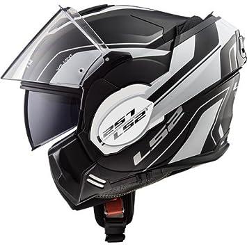 LS2 Casco de Moto Valiant lúmenes Mat, Negro/Blanco, tamaño M