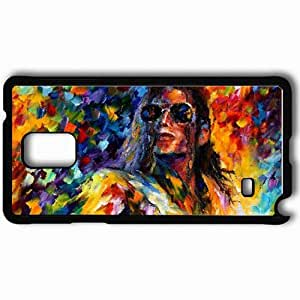 Personalized Samsung Note 4 Cell phone Case/Cover Skin Music Michael Jackson Black