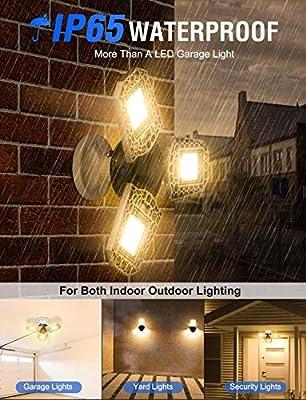 LED Garage Lights,LED Garage Lighting Deformable Light,Garage Ceiling LED Lights,LED Security Lights Flood Light Barn Yard Lighting