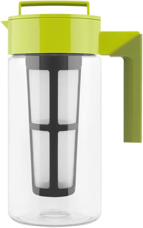 Takeya Iced Tea Maker with Patented Flash Chill Technology Made in USA, 1 Quart, Avocado