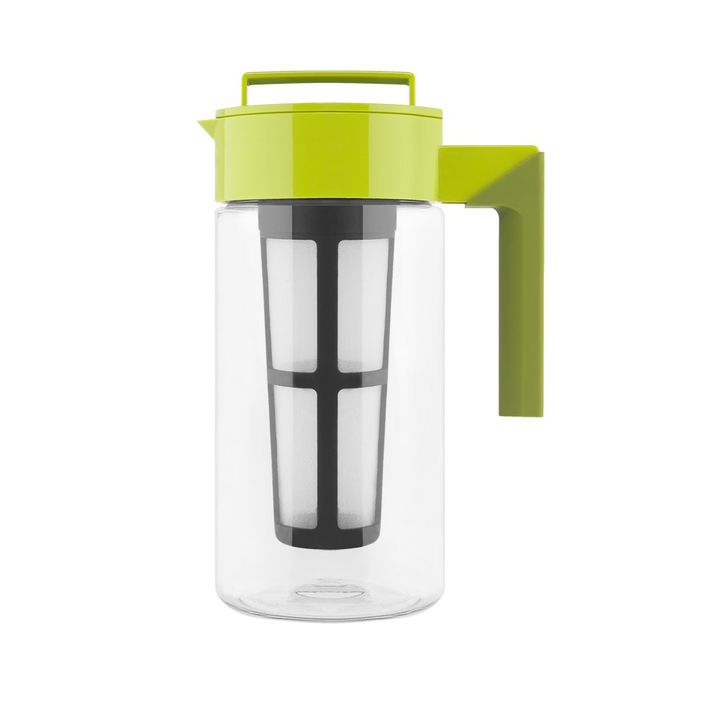 Takeya Iced Tea Maker with Patented Flash Chill Technology Made in USA, 1 Quart, Avocado by Takeya