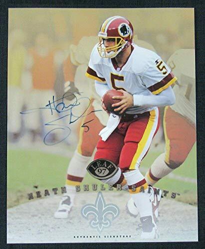 Heath Shuler Autographed Photo - 1997 Leaf 8x10 Card - Autographed NFL -