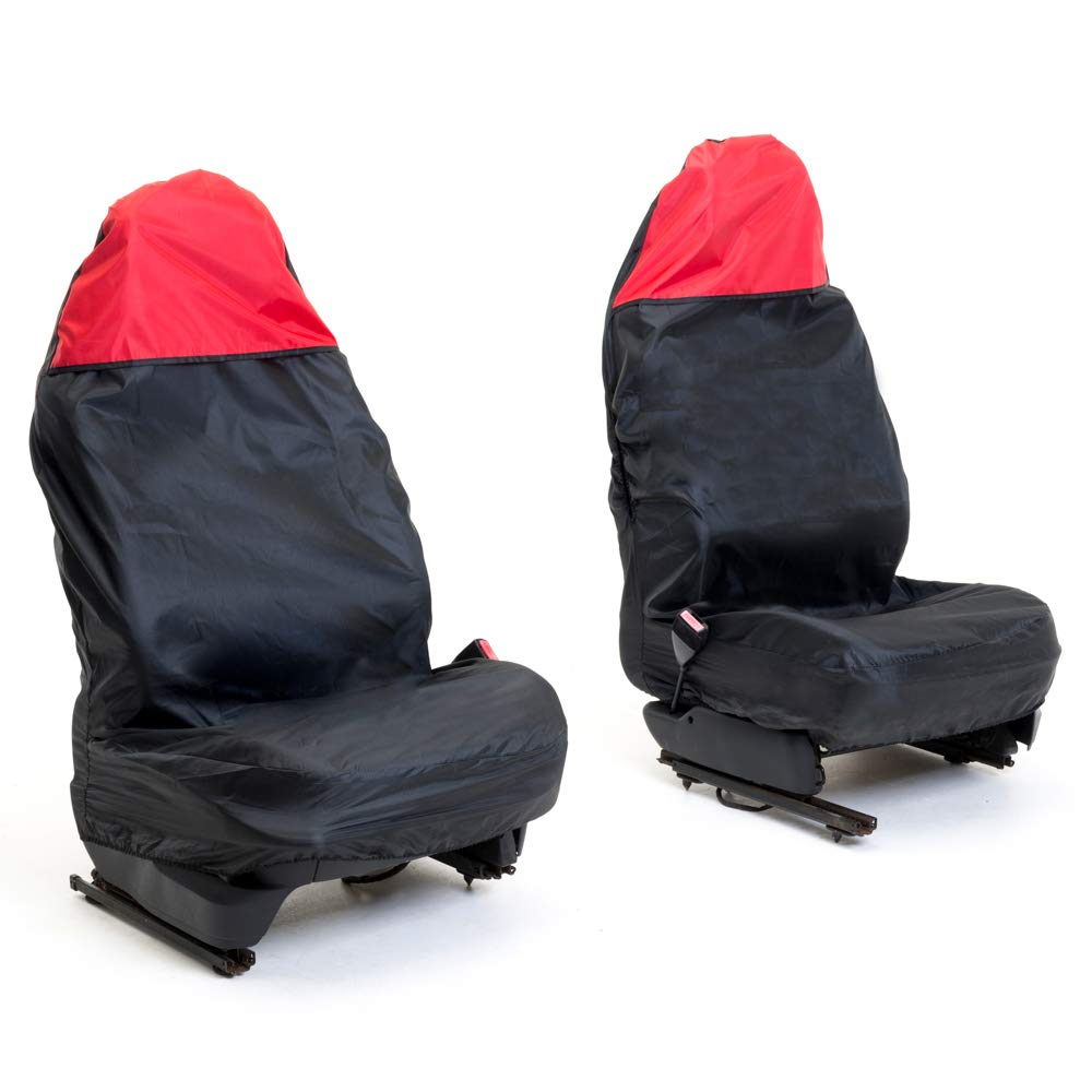 Auto Companion Waterproof Car Front-Seat Seat Covers, Universal (Options of Front or Rear) - Black AUTOC-11