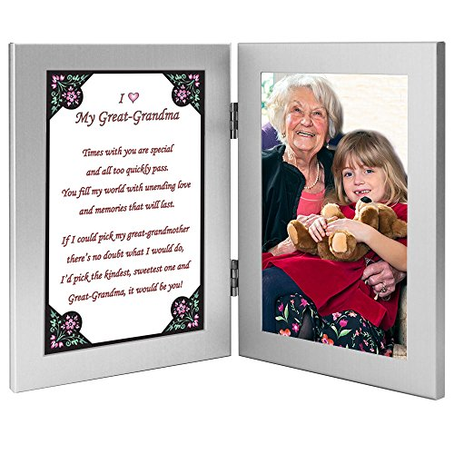 Great Grandmother, Grandma Gift from Grandchild Frame with Sweet Poem, Add Photo