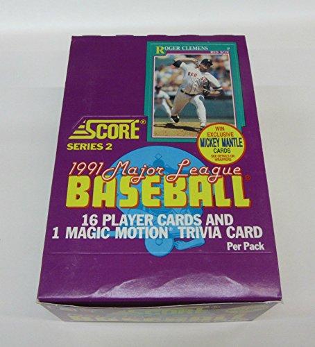 (1991 Score Baseball Series 2 Box)