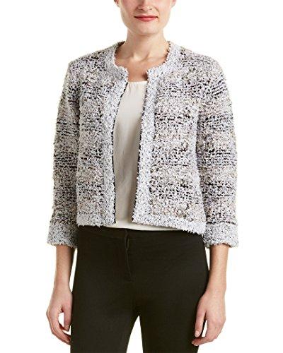 Magaschoni Womens Silk & Cashmere Blend Texture Tweed Jacket, XL ()