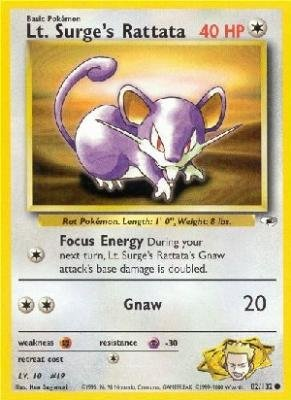 Pokemon Lt Surge's Rattata - Gym Heroes - 82 [Toy] ()