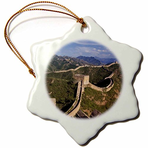 3dRose orn_72503_1 Great Wall of China, Jinshanling, Hebei Province, China-As07 Ksu1150-Keren Su-Snowflake Ornament, 3-Inch, (China Snowflake Ornament)
