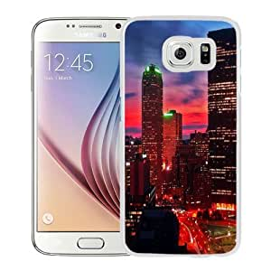 NEW Unique Custom Designed Samsung Galaxy S6 Phone Case With Miami At Night City Lights_White Phone Case