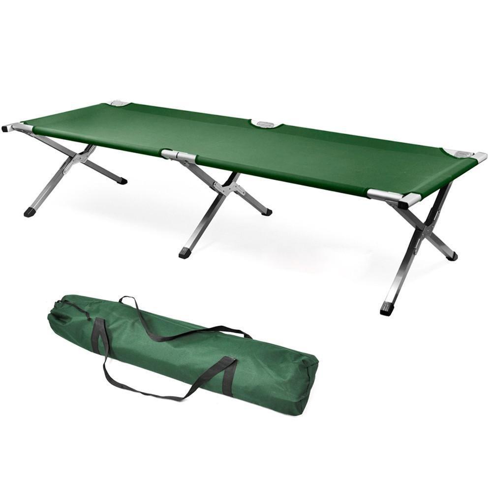 LYNCOL Aluminium Camping Bett Einzelbett Camp Travel Outdoor Bett